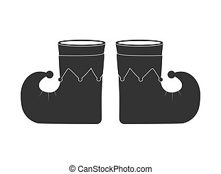 Buffoon's boots. Flat vector icon isolated on a white background