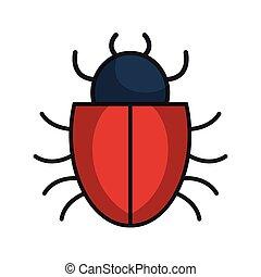 bug alert isolated icon