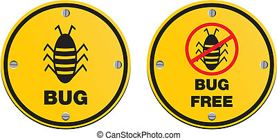 bug alert sign - suitable for alert signs