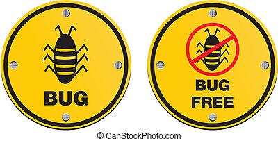 bug alert sign - suitable for alert signs