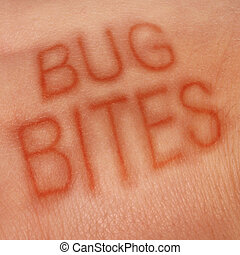 Bug Bites - Bug bites medical concept and health care symbol...