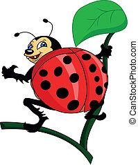 bug cartoon thumb up illustration