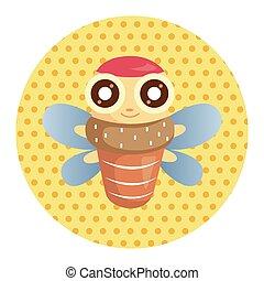 bug cartoon elements
