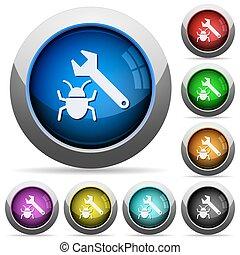 Bug fixing button set