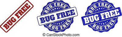 BUG FREE Grunge Stamp Seals