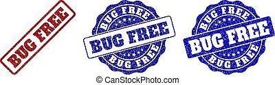 BUG FREE Grunge Stamp Seals