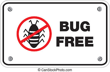bug free rectangle signs