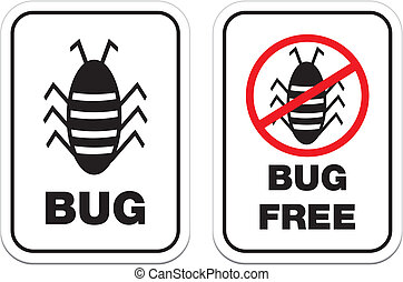 bug free - white signs