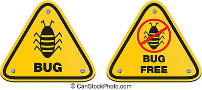 bug free - yellow signs