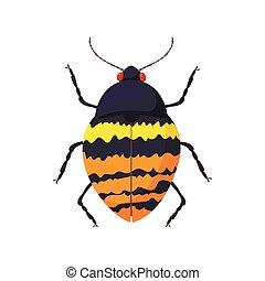 Bug icon, cartoon style