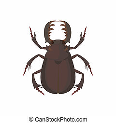 Bug icon, cartoon style