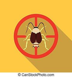 Bug icon, flat style