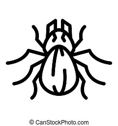 Bug icon, outline style