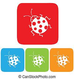 Bug icons. Vector illustration