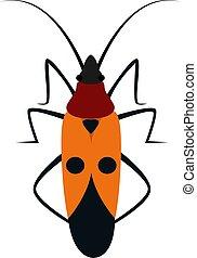 Bug, illustration, vector on white background.