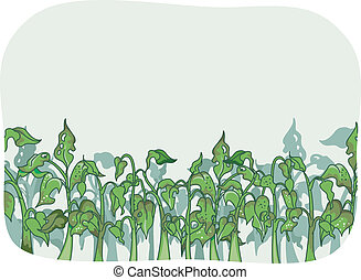 Bug Infestation - Illustration Featuring Plants That Have...