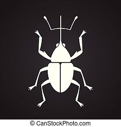 Bug Insect icon on black background for graphic and web design, Modern simple vector sign. Internet concept. Trendy symbol for website design web button or mobile app.