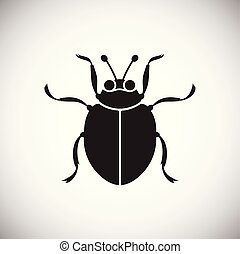 Bug Insect icon on white background for graphic and web design, Modern simple vector sign. Internet concept. Trendy symbol for website design web button or mobile app.