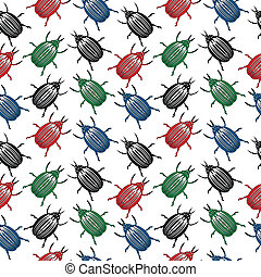 Bug seamless pattern