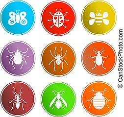 bug sign icons - collection of insect and bug sign icons...