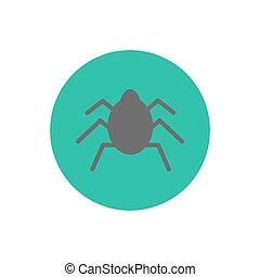 Bug silhouette icon