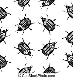 Bug symbol seamless pattern