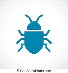 Bug vector icon on white background