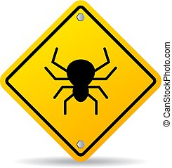 Bug warning vector sign