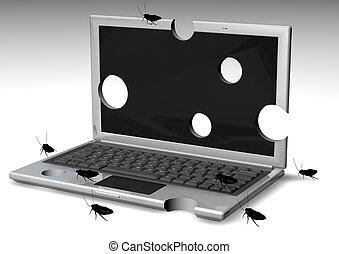 Bugged Laptops - Laptops With holes an bugs on it