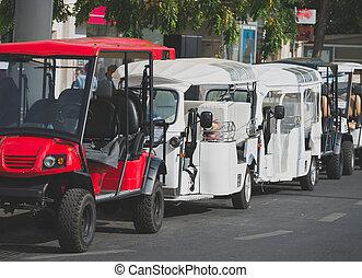 Buggies and Tuktuk rental in Lisbon, Portugal.
