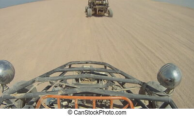 buggy in the desert