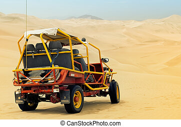 buggy in the dunes