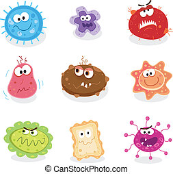 Swine flu, cancer, staphylococcus or trojan virus? Use my BIG COLLECTIONS of bugs and germs. 9 pieces of nasty germs in one collection.