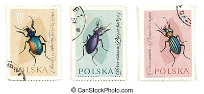 Bugs and insects on postage stamps - Collectible stamps from...