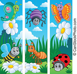 Bugs banners collection 2 - vector illustration.