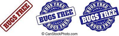 BUGS FREE Scratched Stamp Seals