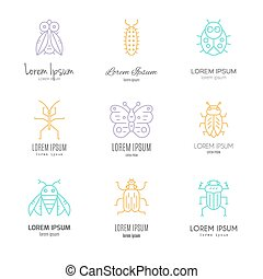 Bugs Logo - Logo templates with bugs and insects made in...