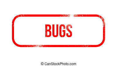 Bugs - red grunge rubber, stamp