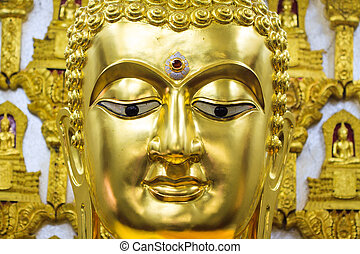 Zen buddhism spiritual enlightenment of serene buddha head