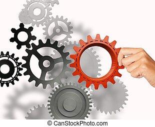 Build a business system - Businessman builds a business...