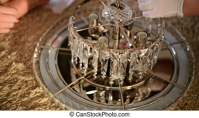 Build a crystal chandelier by hand - Build a crystal...