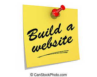 Build a Website White Background