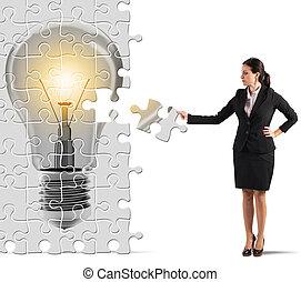 Build an idea puzzle