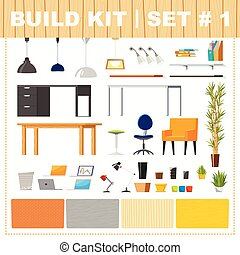 Build kit 1 office furniture