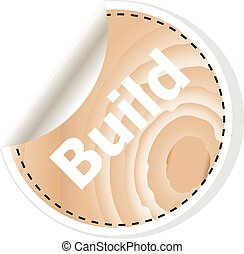 build word on vector business wooden app icon isolated on white background. vector illustration