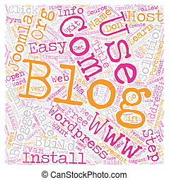 Build Your Blog text background wordcloud concept