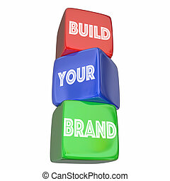 Build Your Brand Company Business Marketing Plan 3d Illustration
