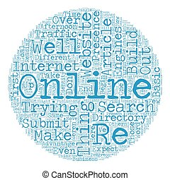 Build Your Online Presence text background wordcloud concept