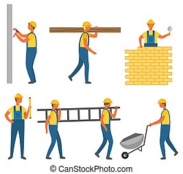 Builder and Construction Zone, Building Vector