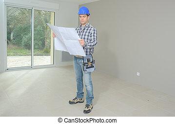 builder checks plans